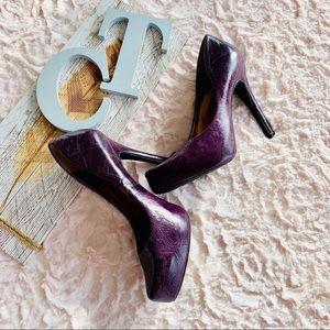Jessica Simpson Leather Platform Heels